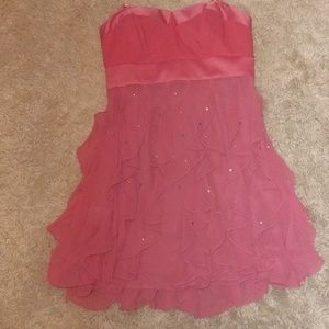 Adorable pink ruffle dress